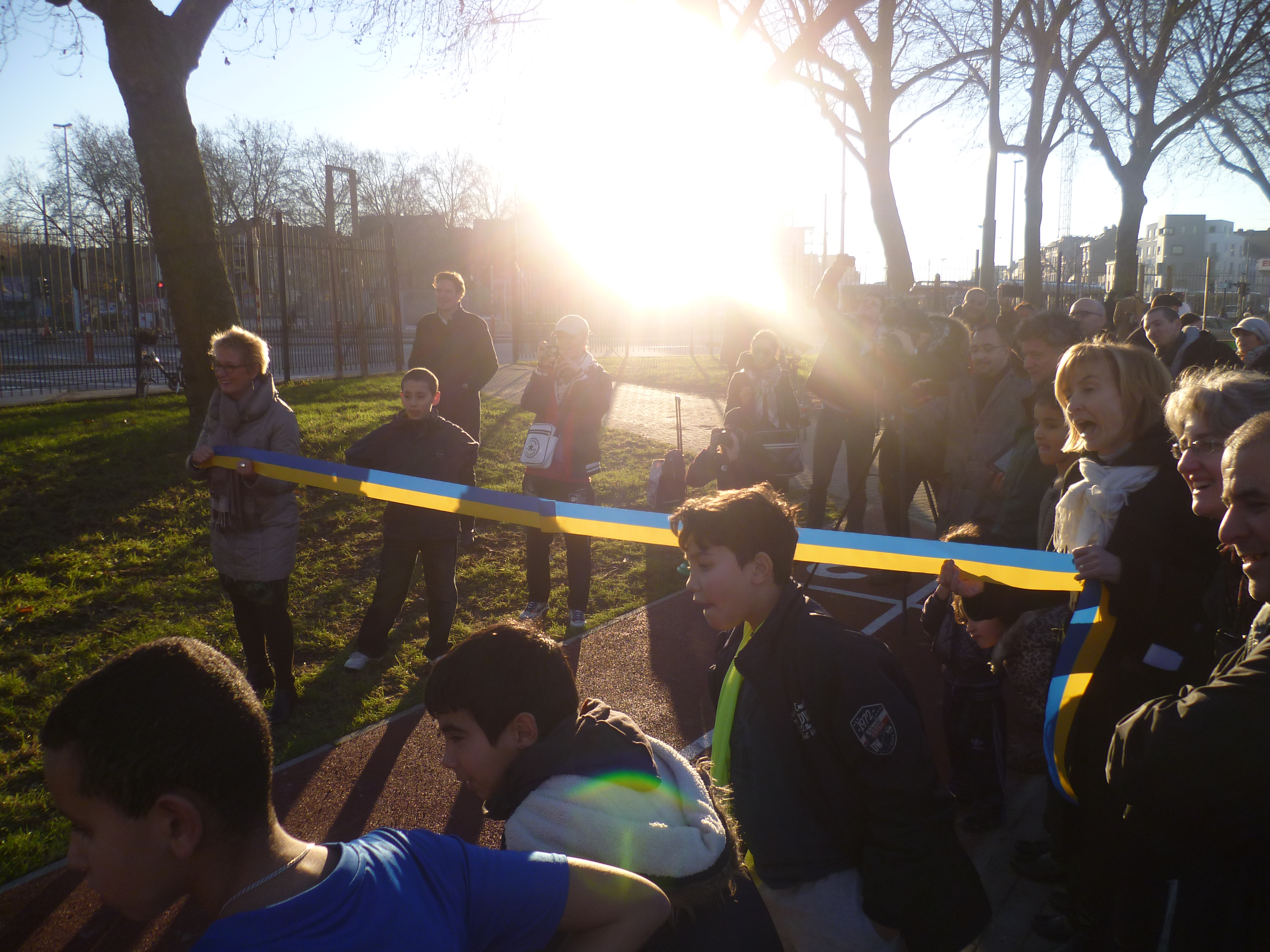 Inauguration du parc pierron molenbeek suede36 - C est l hiver qui frappe a notre porte ...